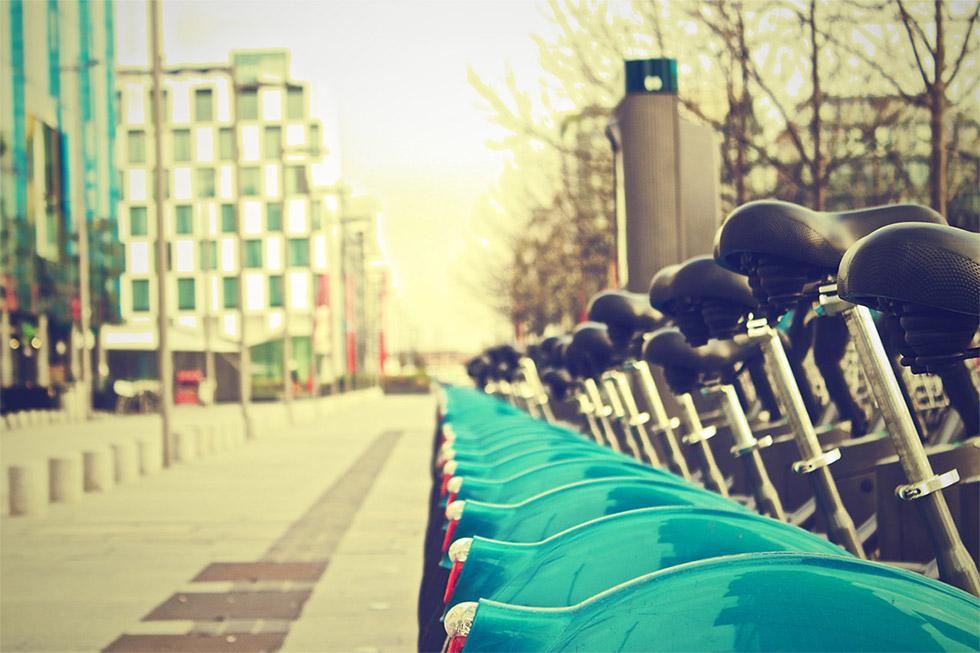 自転車シェアリングサービスの専用ポート