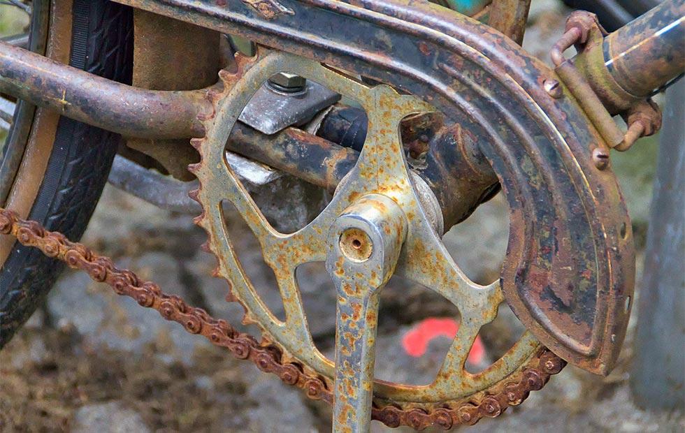 錆びた自転車のイメージ