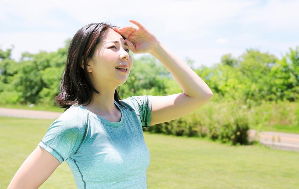 夏の紫外線のイメージ