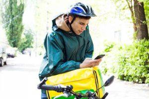 自転車とスマートフォン