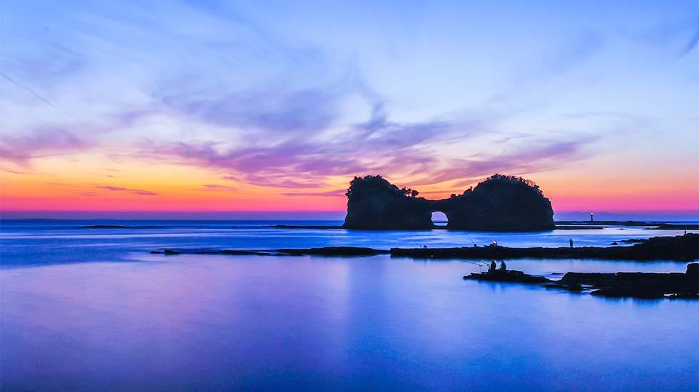 白浜の夕景のイメージ