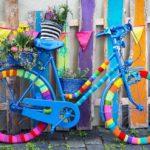 カラフルな自転車のイメージ