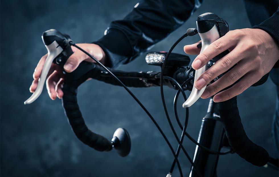 ロードバイクのハンドルのイメージ